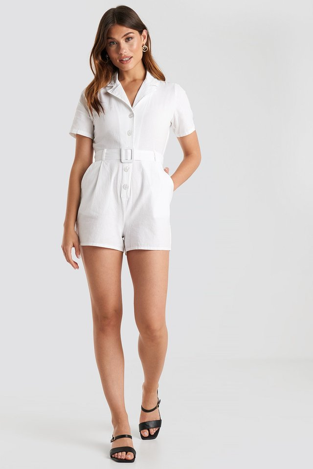 Belted Playsuit Outfit.