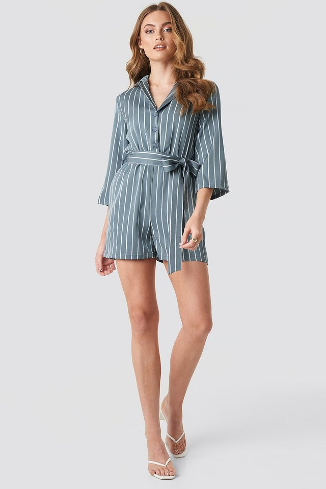 Striped Playsuit Outfit.