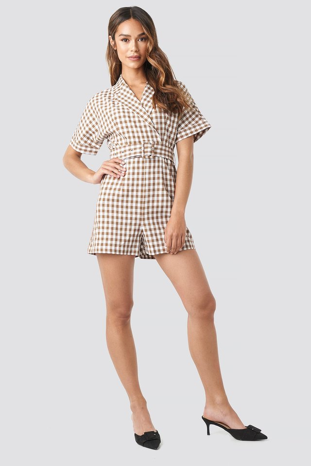 Checked Playsuit Outfit.