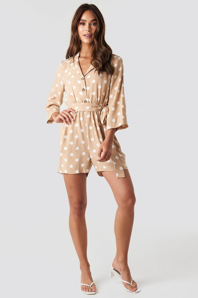 Dotted Playsuit Outfit.