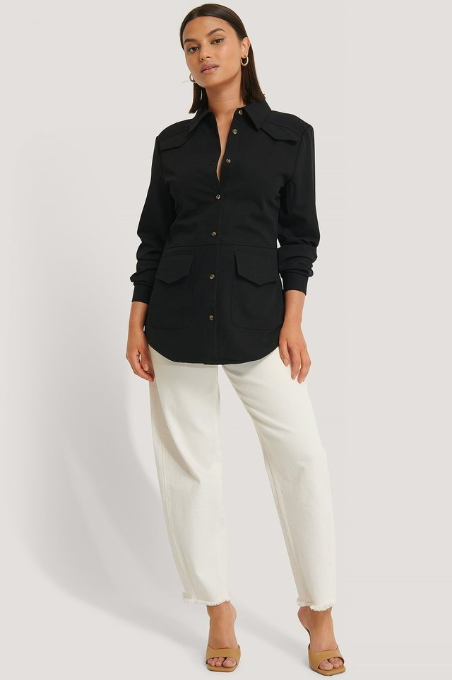 Fitted Pocket Overshirt Outfit.