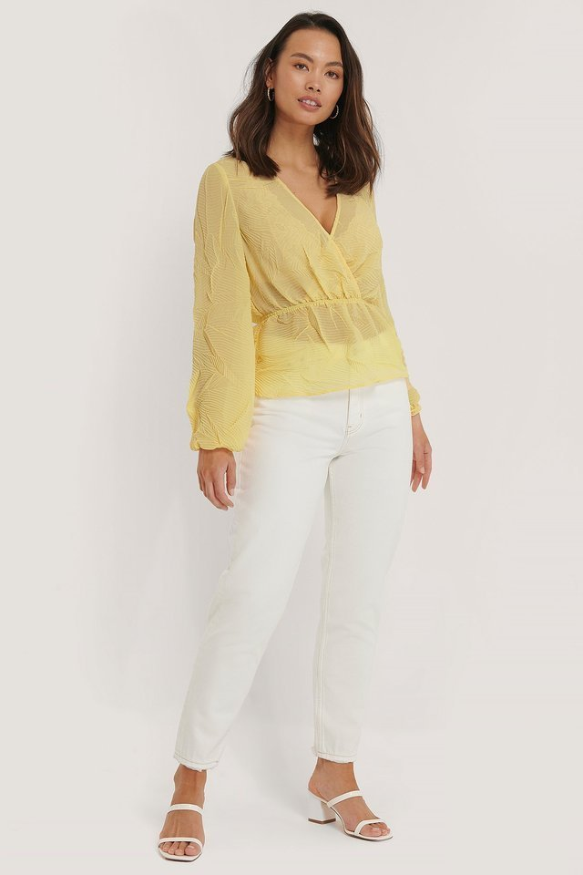 Structure Shirred Blouse Outfit.