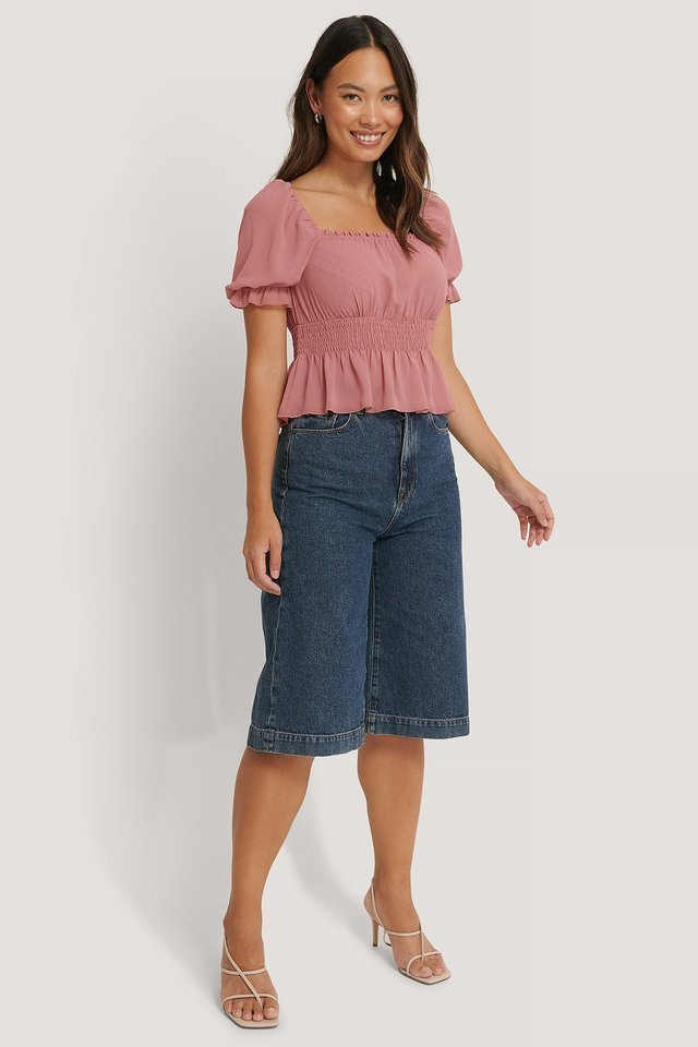 Cropped Smock Top Outfit.