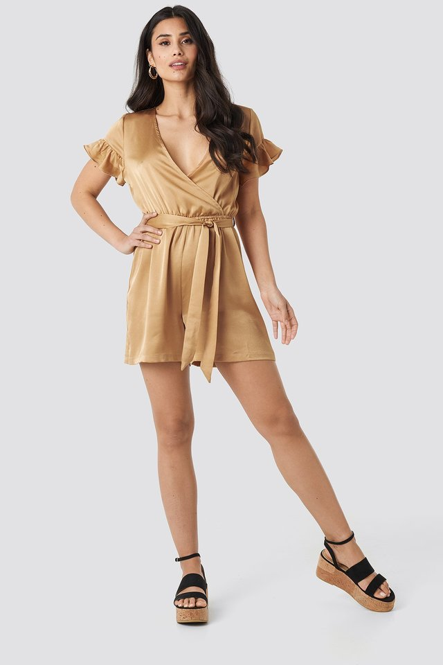 Frill Sleeve Playsuit Outfit.