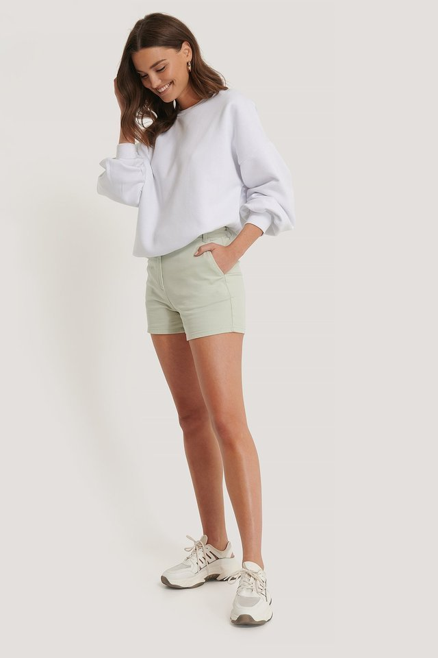 High Waist Shorts Outfit.