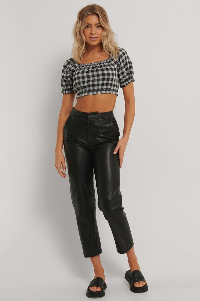 Cropped Frill Top Outfit.