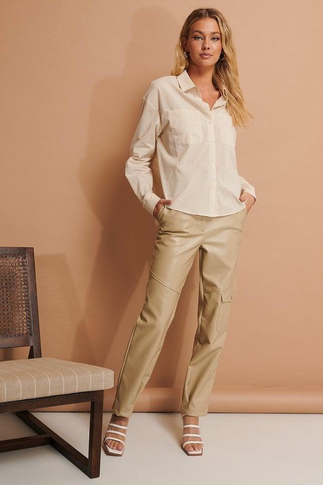 Linen Look Shirt Outfit.