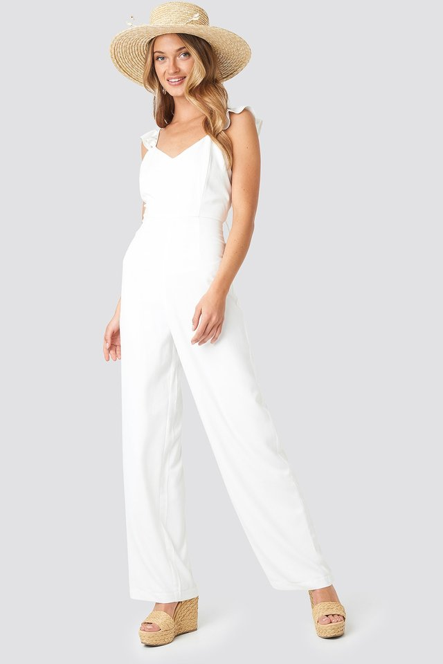 Frill Strap Jumpsuit Outfit.