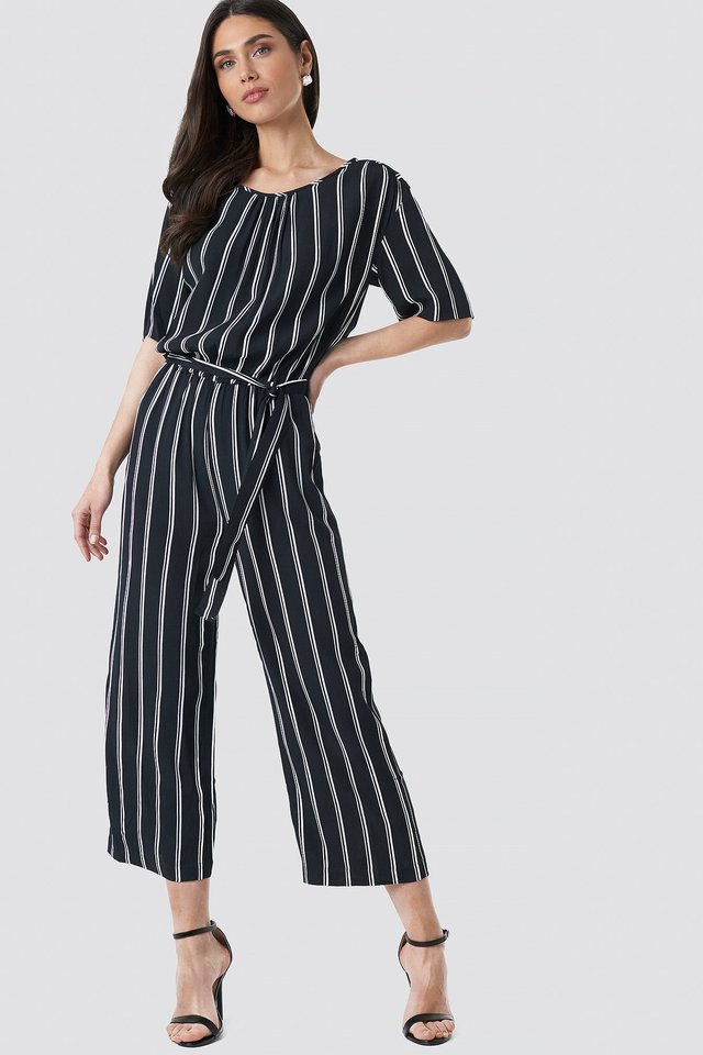Tula Stripe Jumpsuit Outfit.