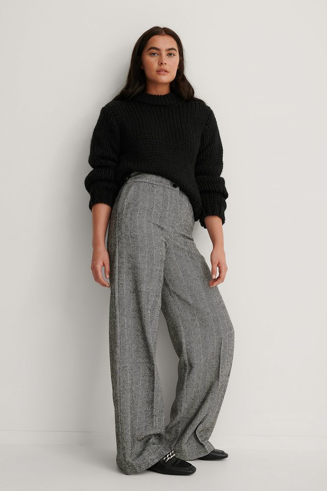 Wide Detail Trousers Outfit.
