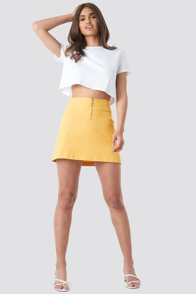 Ring Puller A-Line Mini Skirt Outfit.