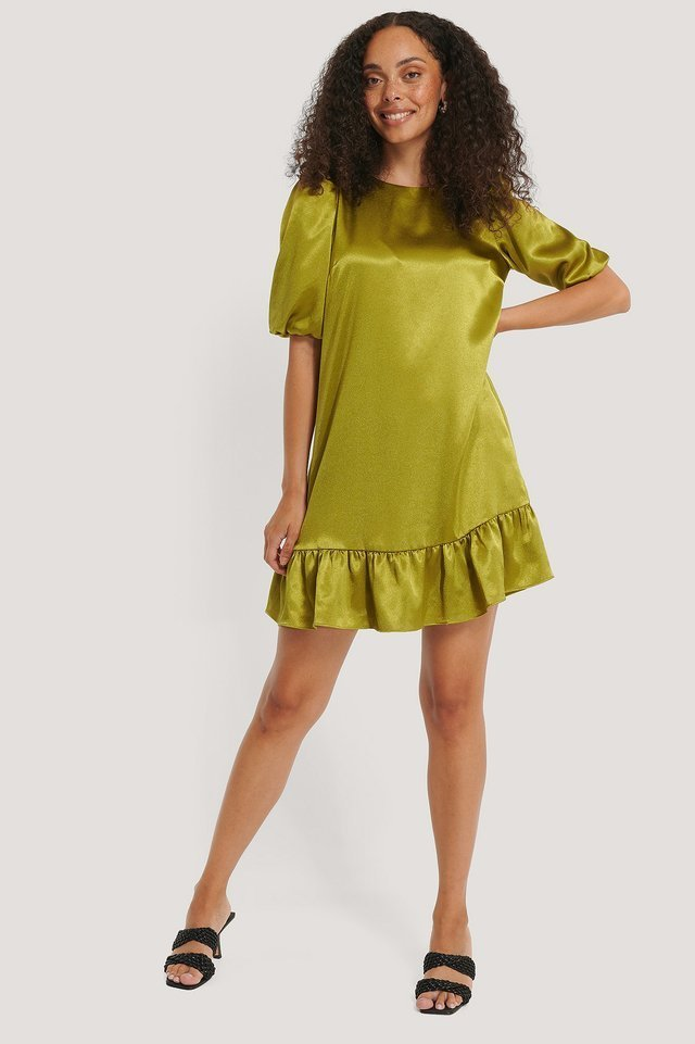 A-Line Flounce Dress Outfit.