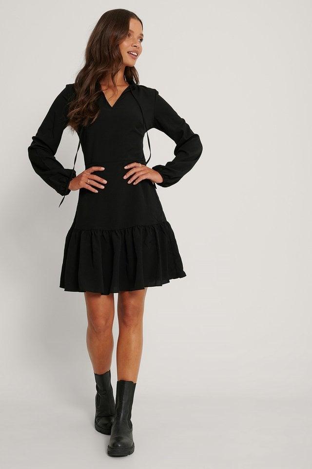 Milla Ruffle Mini Dress Outfit.