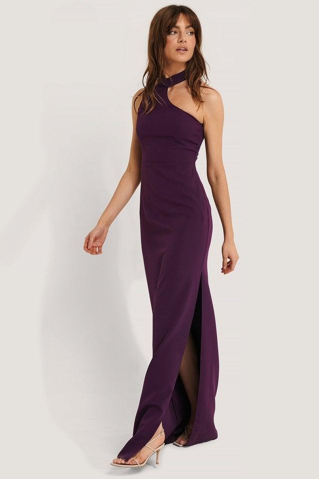 Neck Detail Maxi Dress Outfit.
