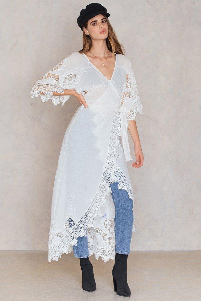 Transparent Maxi Lace Dress Outfit
