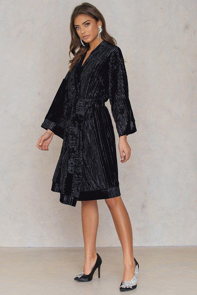 Velvet Kimono Outfit