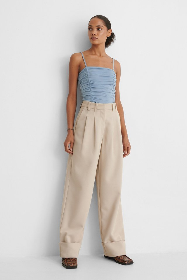 Rouched Cropped Singlet Outfit.