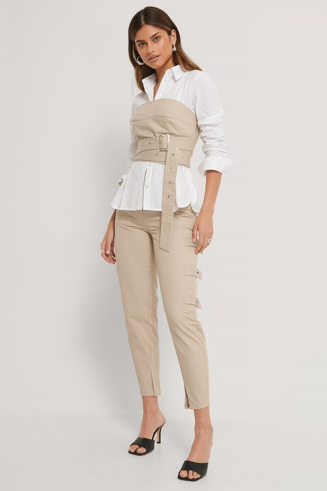 Side Detailed Cargo Pants Outfit.