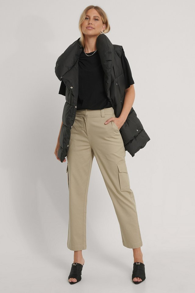 Cotton Cargo Pocket Pants Outfit.