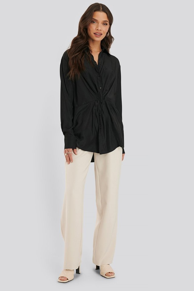 Knot Front Blouse Outfit.