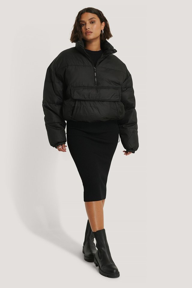 Anorak Padded Jacket Black.