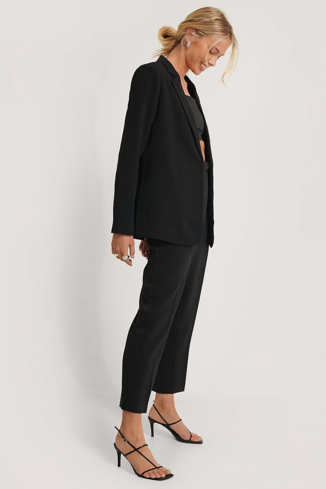 Side Slit Blazer Outfit.