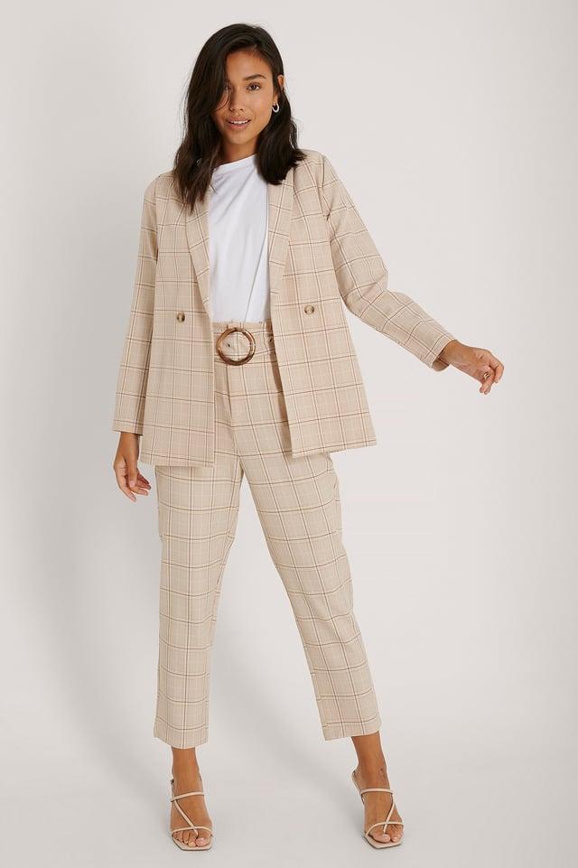 Maja Check Blazer Outfit.