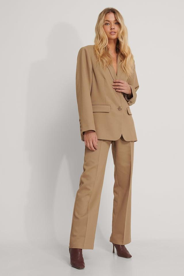 Oversized Twill Blazer Outfit.