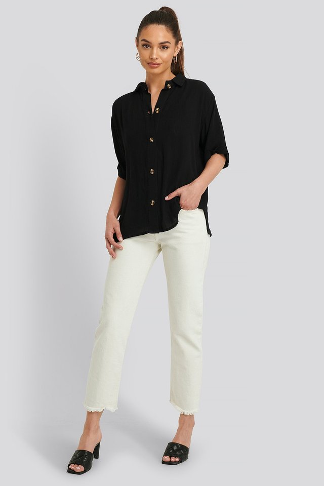 Harriet Shirt Short-Sleeve Outfit.