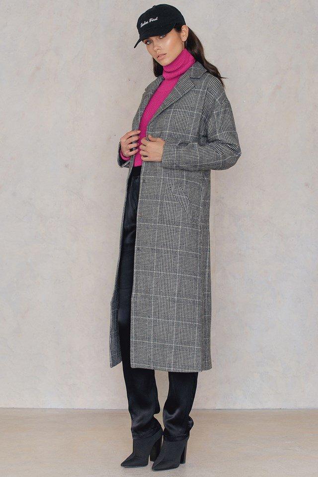 Checked Autumn/ Winter Coat