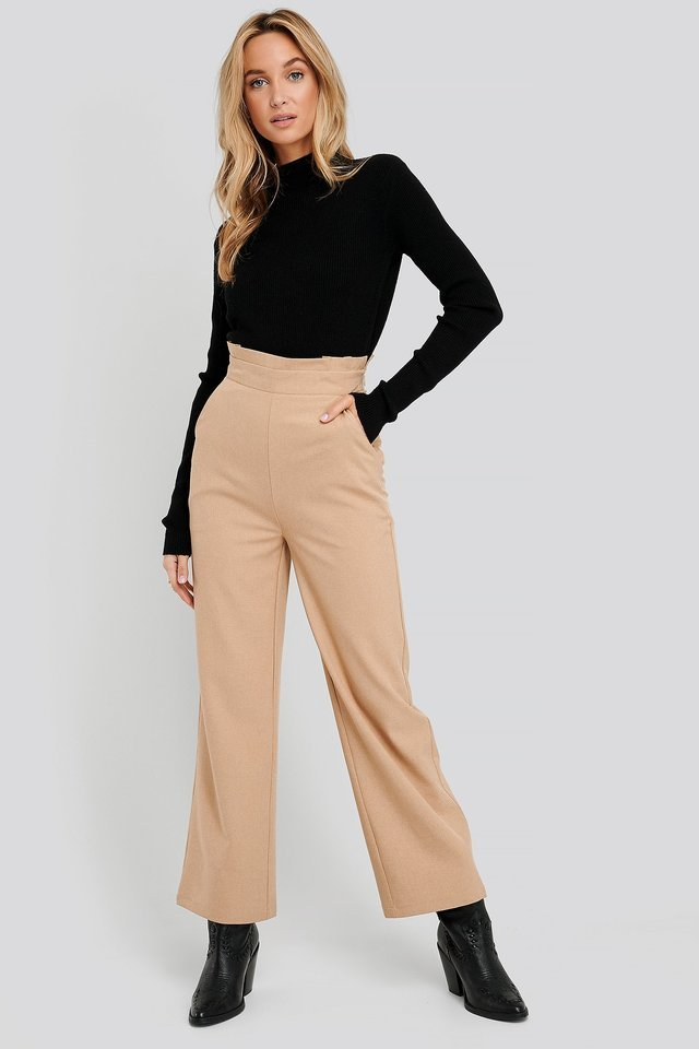 High Waist Wide Trousers Outfit.