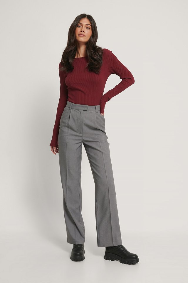 Babylock Ribbed Long Sleeve Top Outfit.