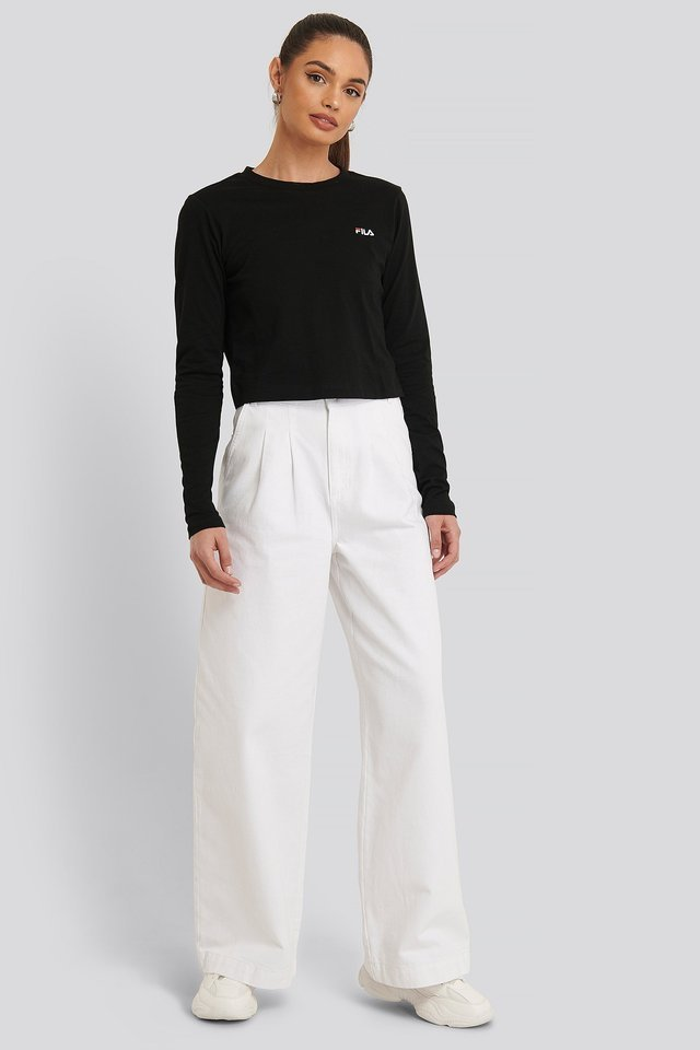 Eaven Cropped LS Shirt Outfit.