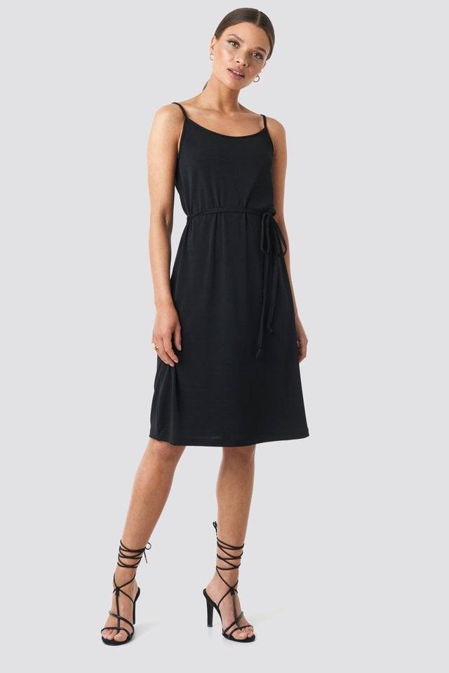 Wrap Detail Strap Dress Outfit.
