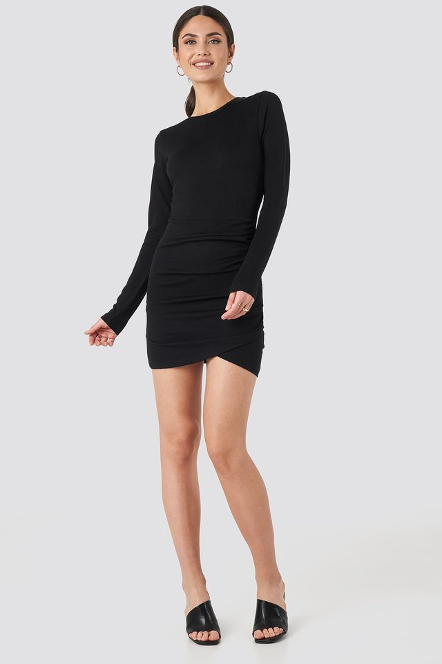 Twist Wrap Jersey Dress Outfit.