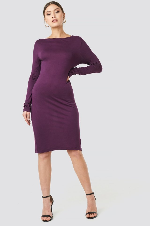 Viscose Deep Back Dress Outfit.