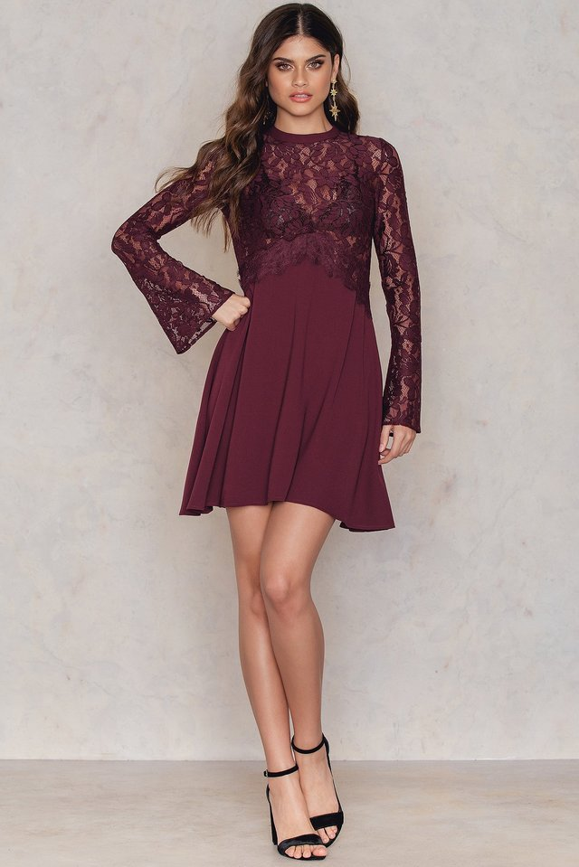 Romantic Lace Dress Outfit.