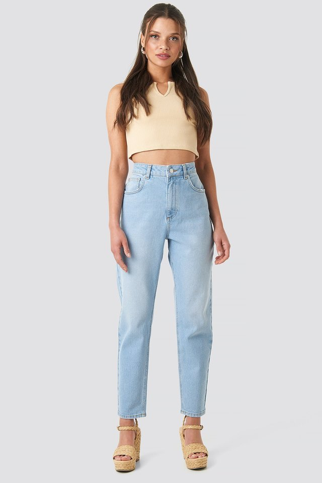 Mid Blue Mom Jeans