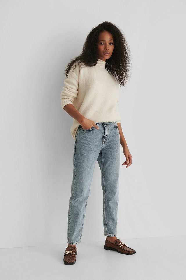 Mom 80 Jeans Blue.