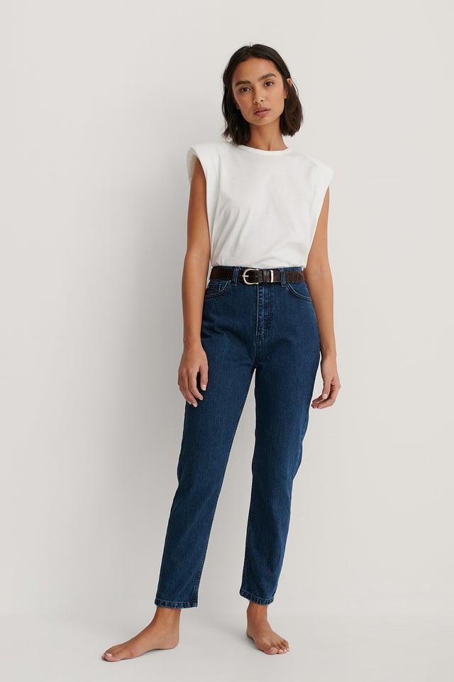 Milla High Waist Mom Jeans Blue.