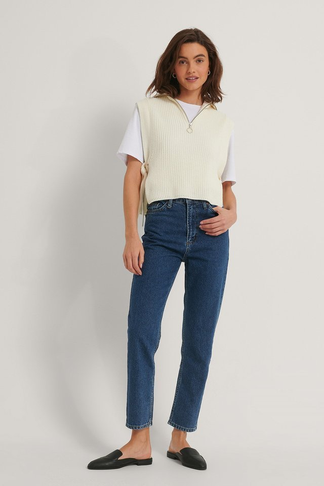 High Waist Mom Jeans Blue.