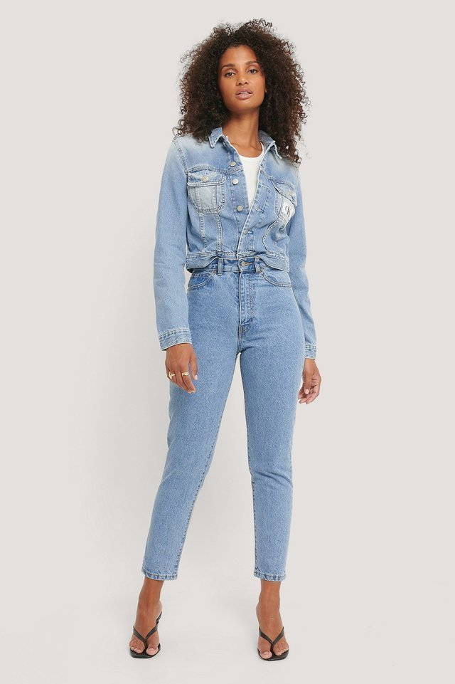Nora Jeans Light Retro Blue.