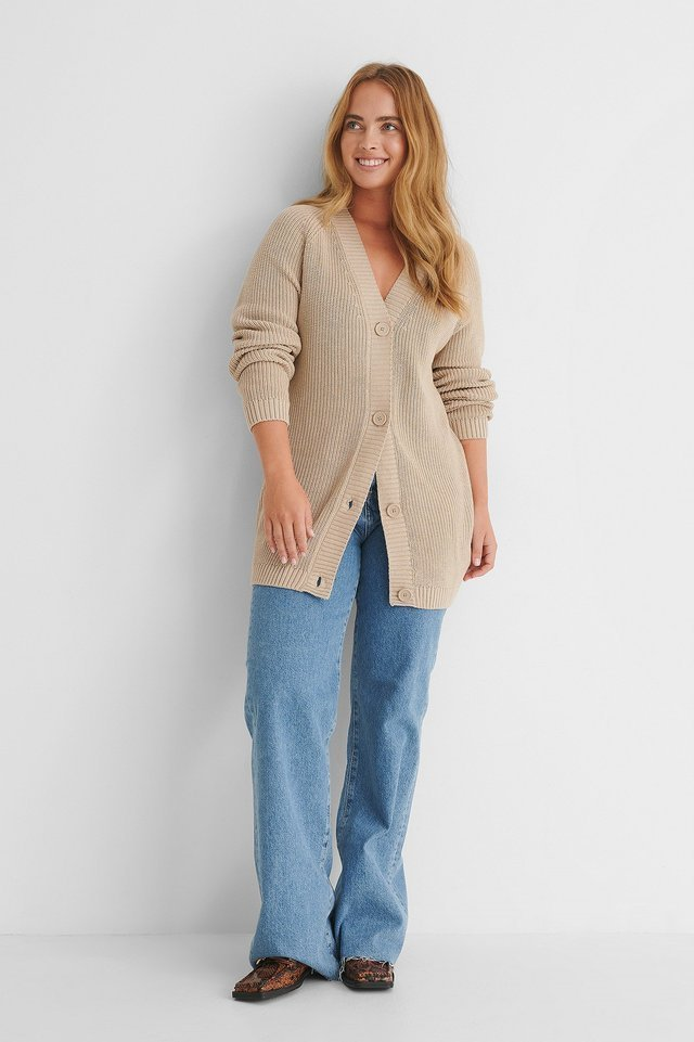Big Button Knitted Cardigan