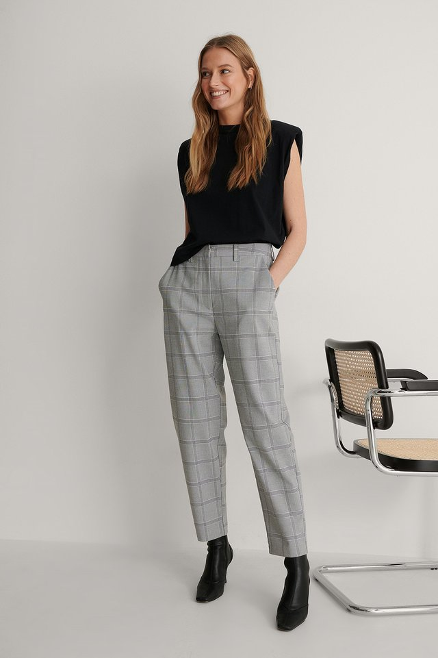 Checkered Pants Outfit.