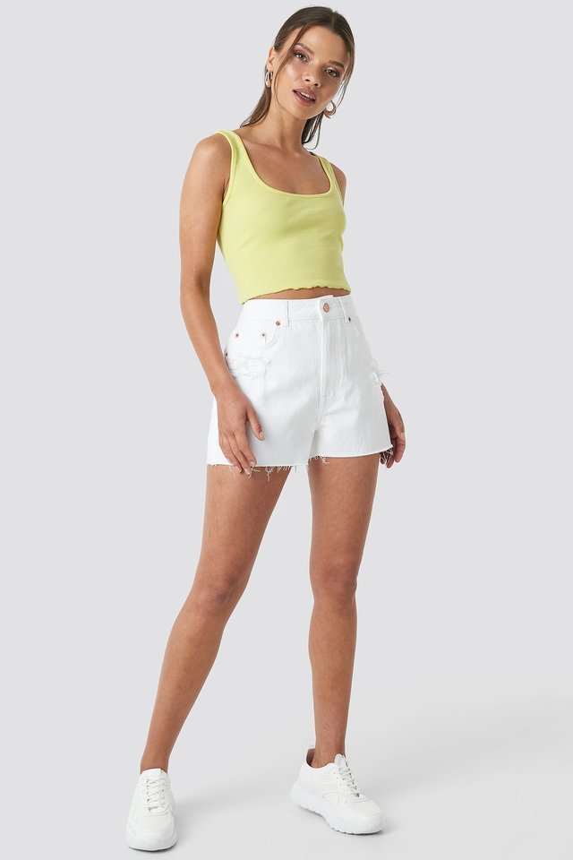 Lettuce Hem Cami Top Outfit.