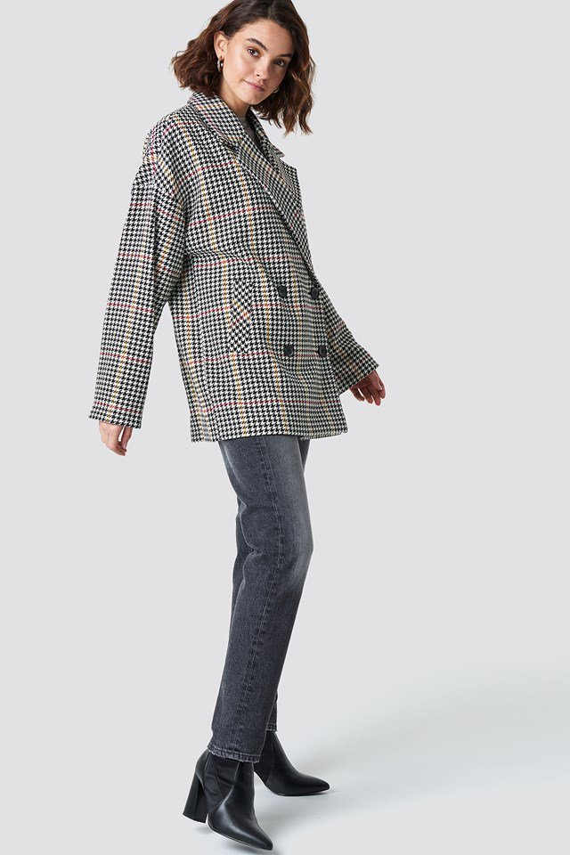 Dogtooth Pattern Jacket