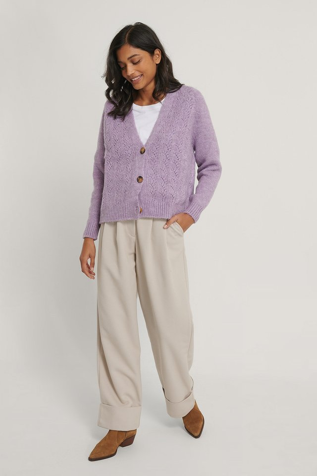 Carmen Button Cardigan Outfit.
