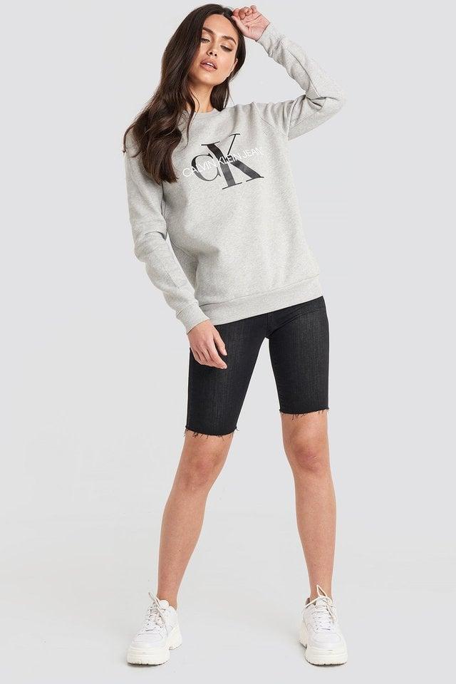 Light Grey Heather Core Monogram Logo Sweatshirt