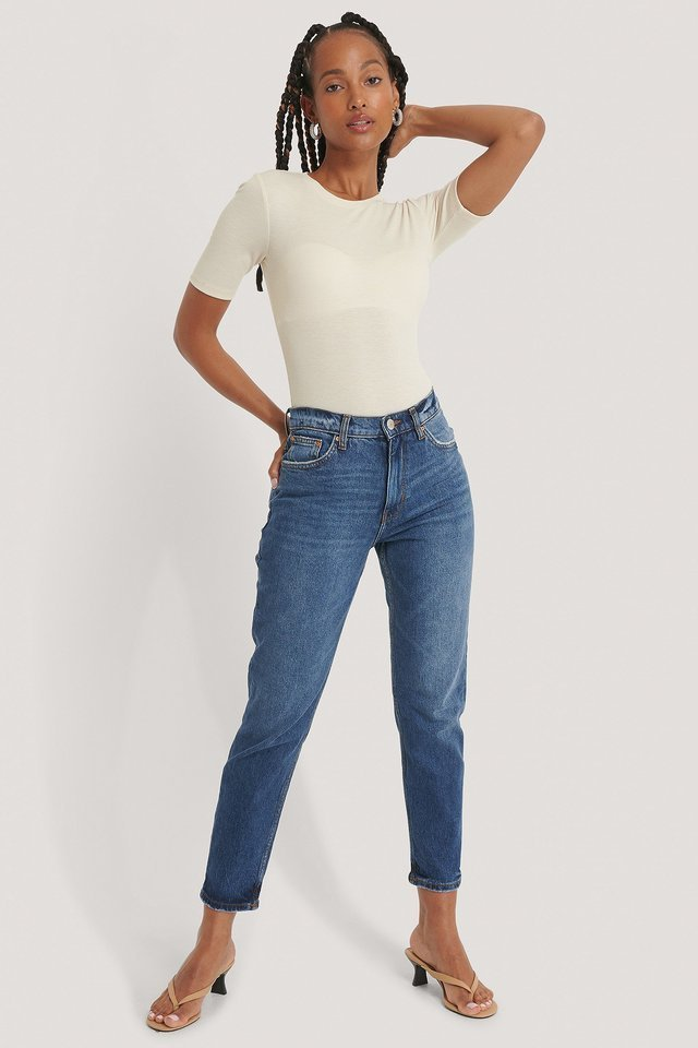 New Mom Jeans Blue.