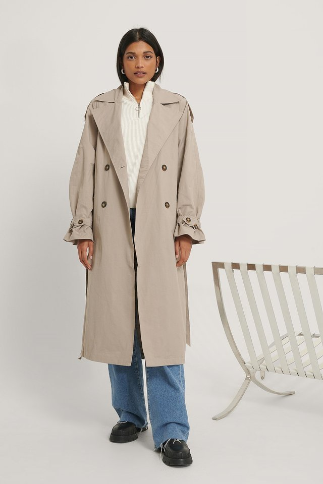 Oversized Trench Coat Beige Outfit.